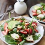 Strawberry Avocado Chicken Salad with Balsamic Vinaigrette