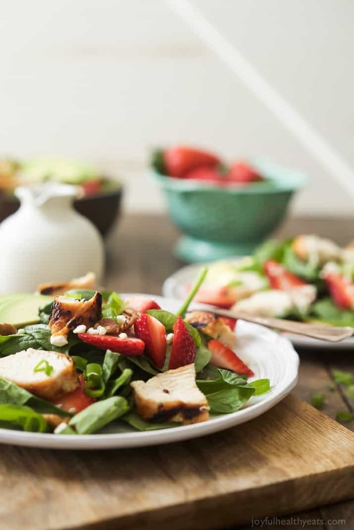 Strawberry Avocado Chicken Salad with Balsamic Vinaigrette ...