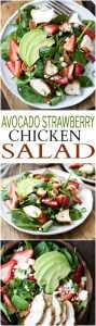 Strawberry Avocado Chicken Salad Recipe + DIY Balsamic Vinaigrette