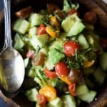 tomato avocado cucumber salad