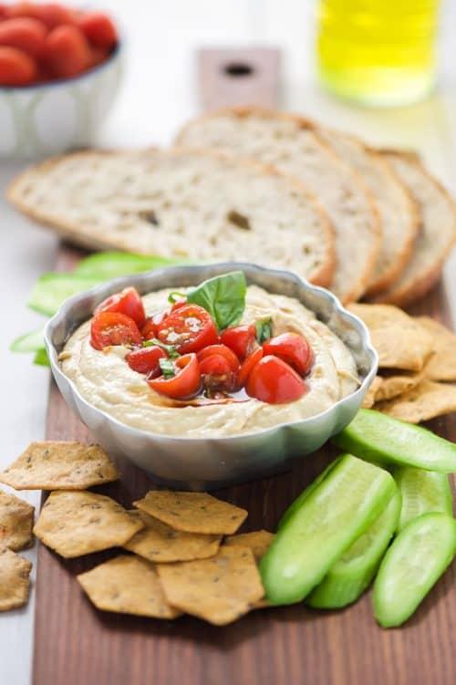 5-Minute-Bruschetta-Hummus