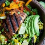 Blackened Grilled Salmon Salad with Pineapple Salsa