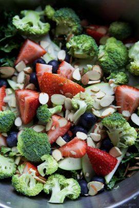 Close-up Image of my Detox Summer Salad with Citrus Basil Vinaigrette