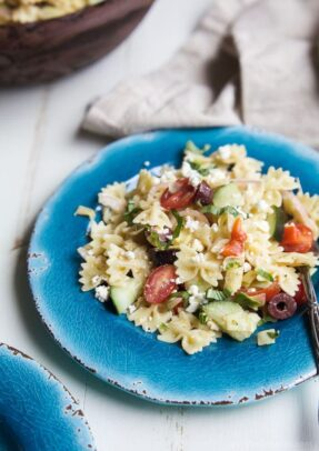 Easy Greek Pasta Salad Recipe | Easy Cold Pasta Salad Side Dish