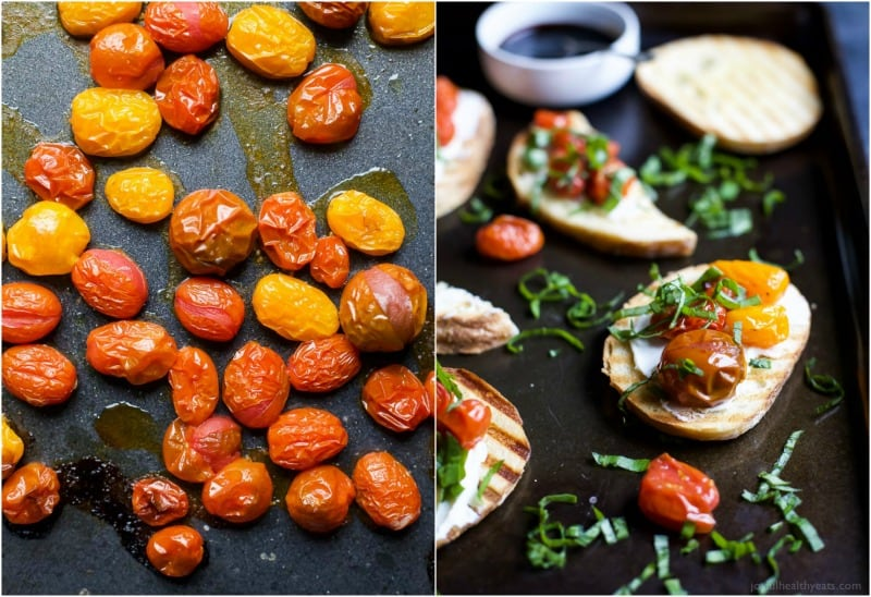 Roasted Tomato Bruschetta with Whipped Goat Cheese | Easy ...