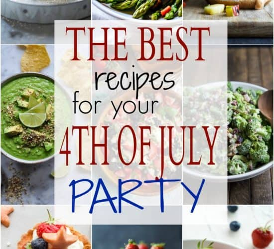The BEST of the BEST 4th of July Recipes to ensure you have one bomb of a Holiday Party! From juicy burgers, classic side dishes, fun cocktails, and delicious desserts ... your one stop shop for holiday recipes! | joyfulhealthyeats.com