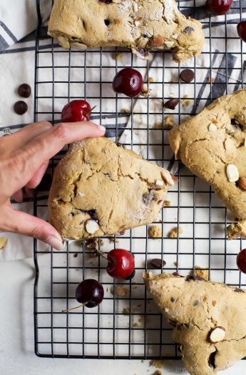 Image of Almond Chocolate Cherry Scones