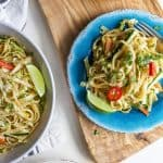 Asian Noodle Salad with Spicy Sesame Dressing