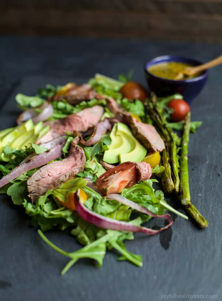 Image of a California Steak Salad with Chimichurri