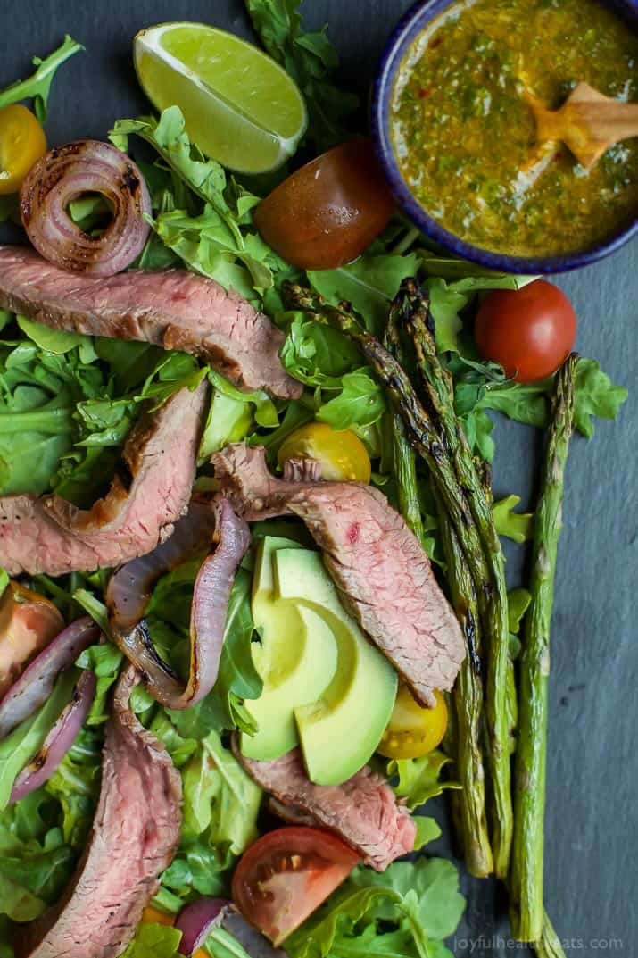 Image of Steak Salad with Chimichurri Sauce