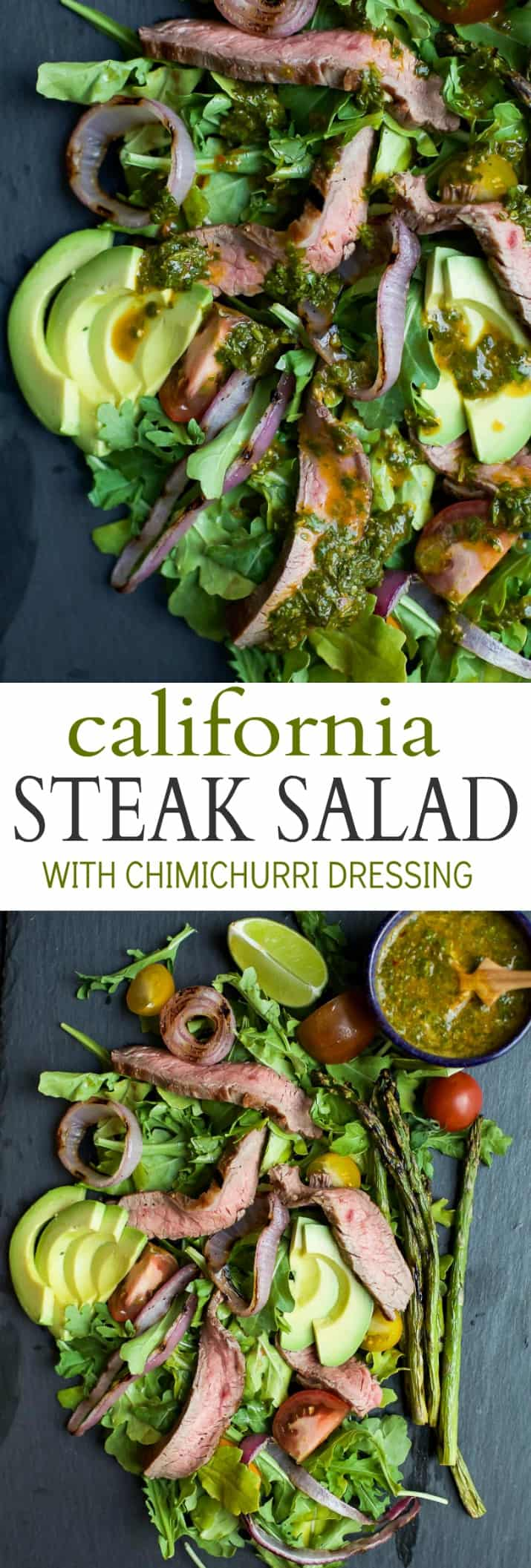 Title Image for my California Steak Salad with Chimichurri Dressing