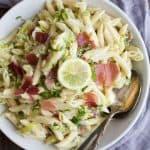 Creamy Lemon Pasta with Prosciutto   Easy Pasta Dinner Idea