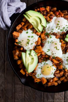 Smoky Bacon Sweet Potato Hash & Eggs - web-4