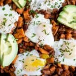 Smoky Bacon Sweet Potato Hash & Eggs - web-6