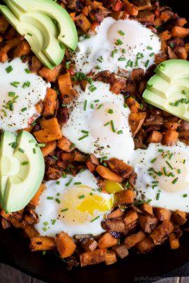 Smoky Bacon Sweet Potato Hash & Eggs - web-6