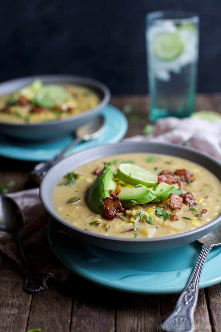 Crock Pot Potato Corn Chowder with Roasted Poblanos | Easy ...