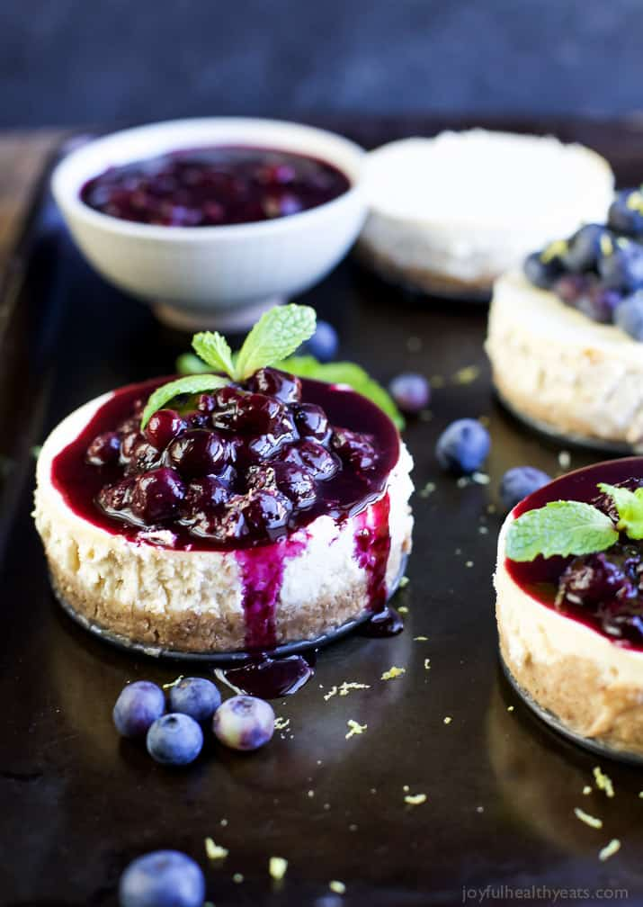 Goat Cheese Cheesecake with Lemon Blueberry Compote | Easy ...