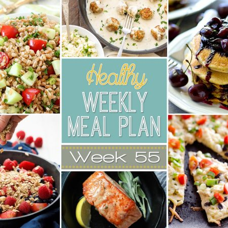 Make your life easier AND healthier! This healthy meal plan has a weeks worth of healthy recipes you can make for your family for breakfast, lunch, and dinner with a few snacks and desserts snuck in! | joyfulhealthyeats.com #family #dinnerideas #kidfriendly