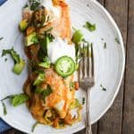 Spiralized Vegetable Enchiladas are a easy light 30 minute meal. Perfect for your next taco night!