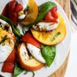 Roasted Red Pepper Peach Caprese with Balsamic Reduction -web-5