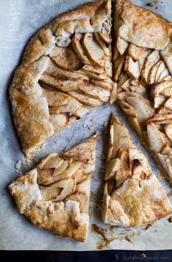 Image of Cardamom Apple Galette topped with a Maple Mascarpone