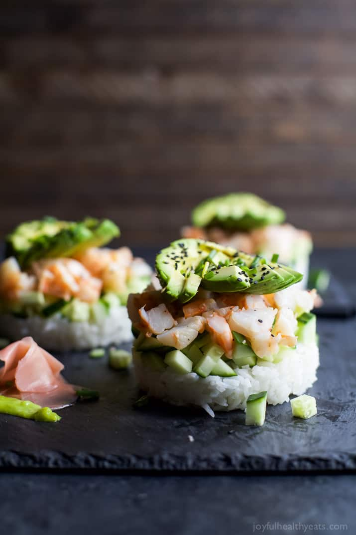 Stacked california sushi roll easy healthy recipes in the mood for sushi but dont have the time problem solved with forumfinder Image collections