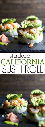Stacked California Sushi Roll_long