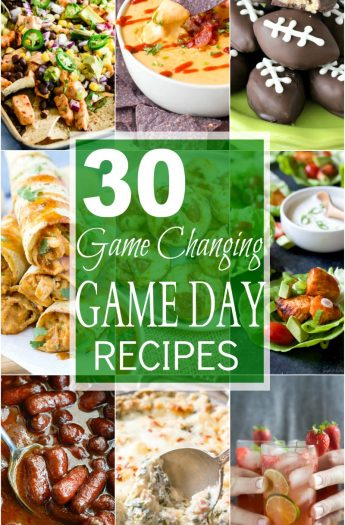 30 Game Changing Game Day Recipes you'll be fighting over! A collection of lighter appetizers, cocktails, dips, and desserts that will win over even the manliest of football guys! | joyfulhealthyeats.com