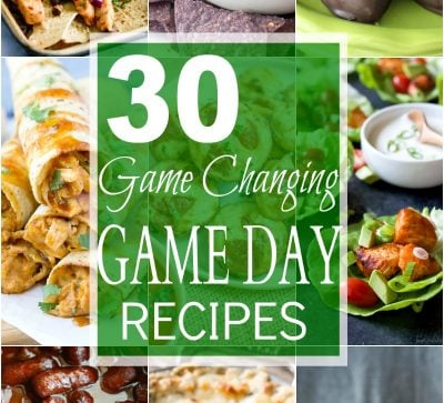 30 Game Changing Game Day Recipes you'll be fighting over! A collection of lighter appetizers, cocktails, dips, and desserts that will win over even the manliest of football guys!   joyfulhealthyeats.com