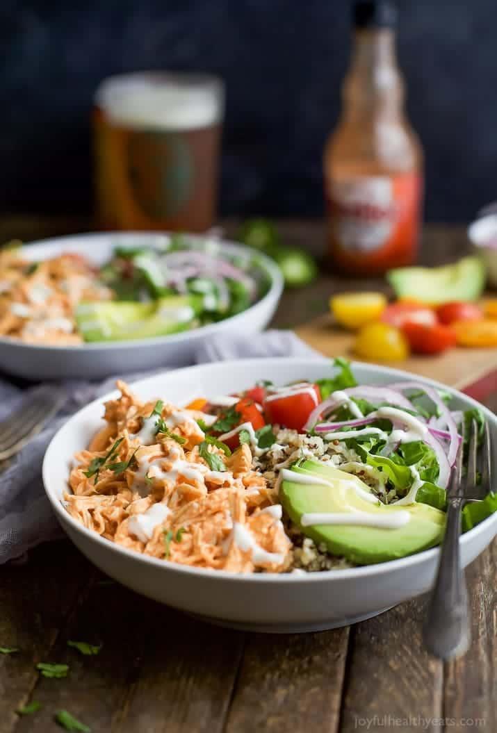 Buffalo Chicken Quinoa Bowls Easy Healthy Recipes