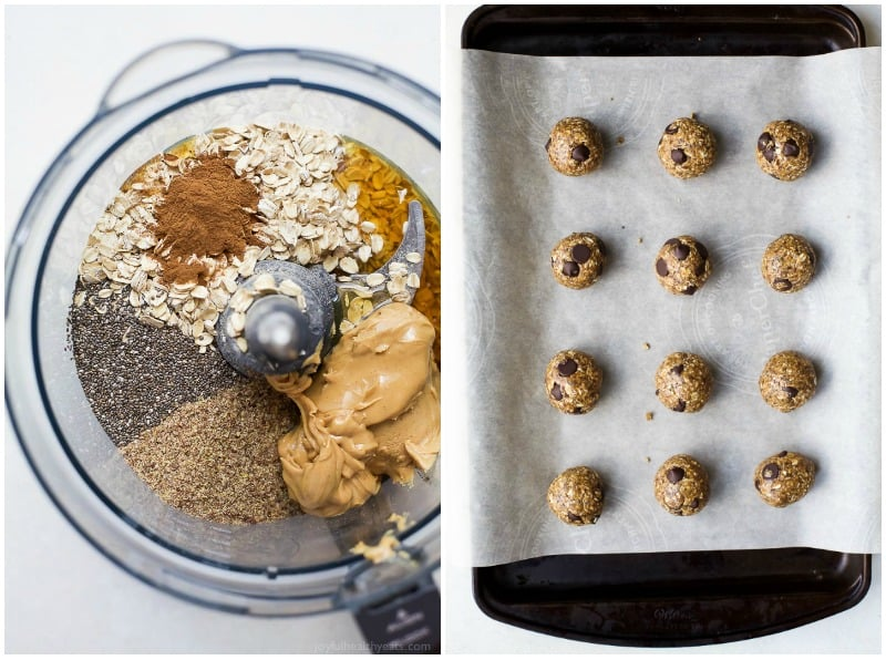 These Simple No Bake Chocolate Peanut Butter Energy Balls make the perfect snack, breakfast, or even dessert! They're packed with protein and taste like a Peanut Butter Cookie!