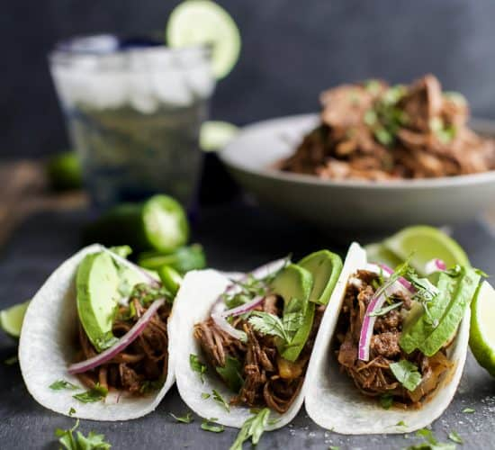 These Paleo Crock Pot Balsamic Braised Short Rib Tacos will be your new favorite Crock Pot recipe! Cuz Tacos... duh! They are sweet & spicy, easy, healthy, and totally deliver on flavor! You're gonna be in love!   joyfulhealthyeats.com #glutenfree