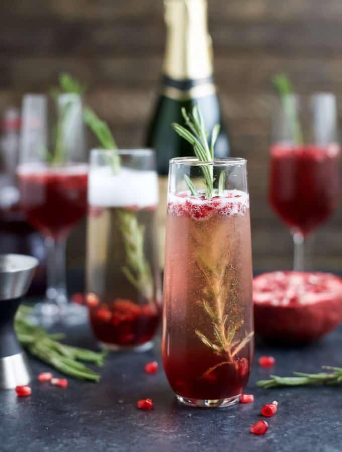 Sparkling Pomegranate Mimosas