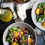 Mandarin Orange Cranberry Kale Salad with Candied Pecans