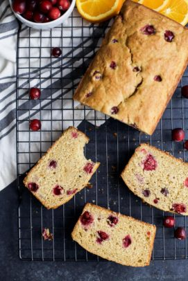 Moist Orange Cranberry Bread, made with fresh cranberries and fresh orange juice. This Cranberry Orange Bread is one of the BEST things you'll have all fall!   joyfulhealthyeats.com