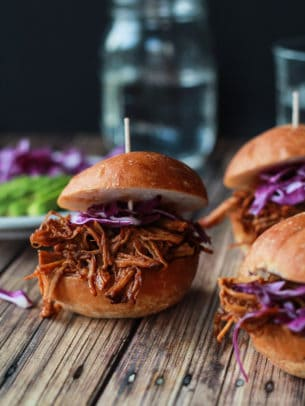 Image of Pulled Pork Sliders with Red Cabbage & Avocado