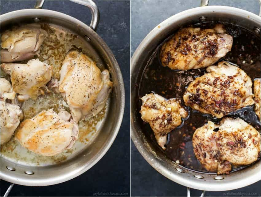 Image of Chicken Cooking in a Pan