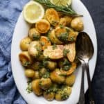 Crispy Roasted Potatoes with Sage Salsa Verde