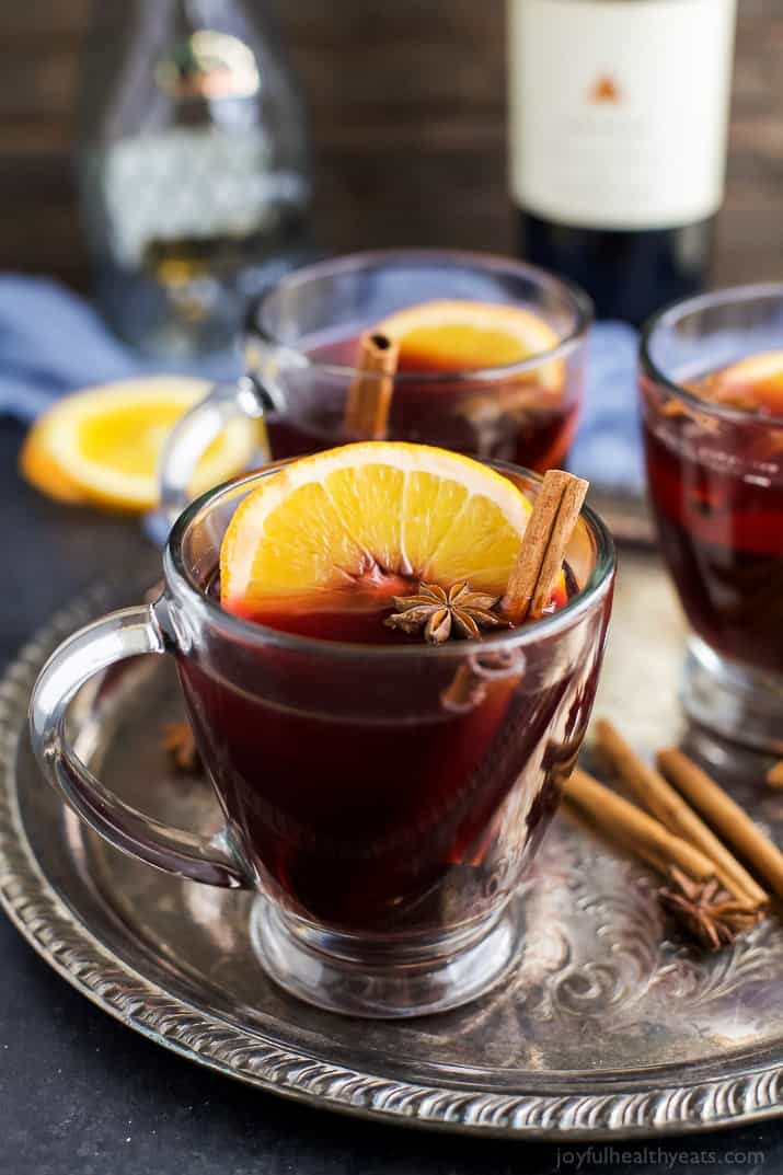 Holiday Spiced Mulled Wine | Easy Healthy Recipes