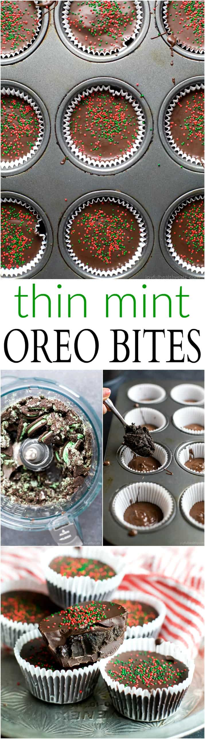THIN MINT OREO BITES, an easy 3 ingredient Christmas treat that will be a crowd favorite this Holiday Season! | joyfulhealthyeats.com