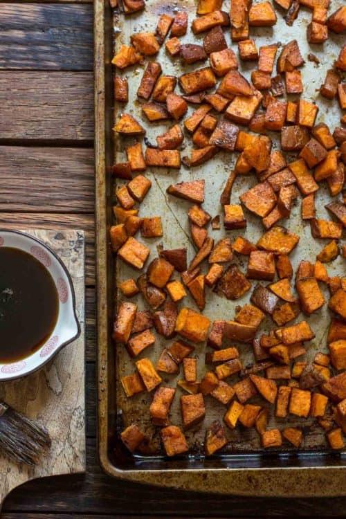 Maple Roasted Sweet Potatoes | Neighbor Food Blog