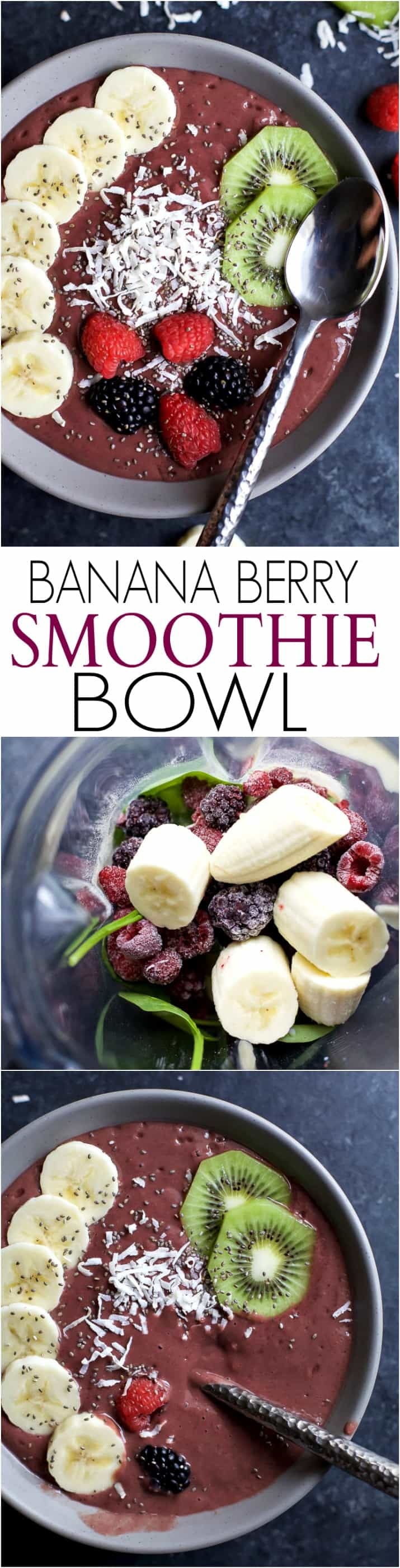 Title image for BANANA BERRY SMOOTHIE BOWL