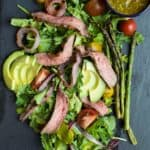 Image of a California Steak Salad with Chimichurri Dressing