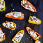 Cheesy Bacon Stuffed Peppers