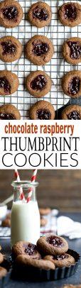 Holiday Baking Idea: Chocolate Raspberry Thumbprint Cookies