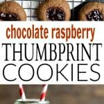 Holiday Baking Idea: Chocolate Raspberry Thumbprint Cookies