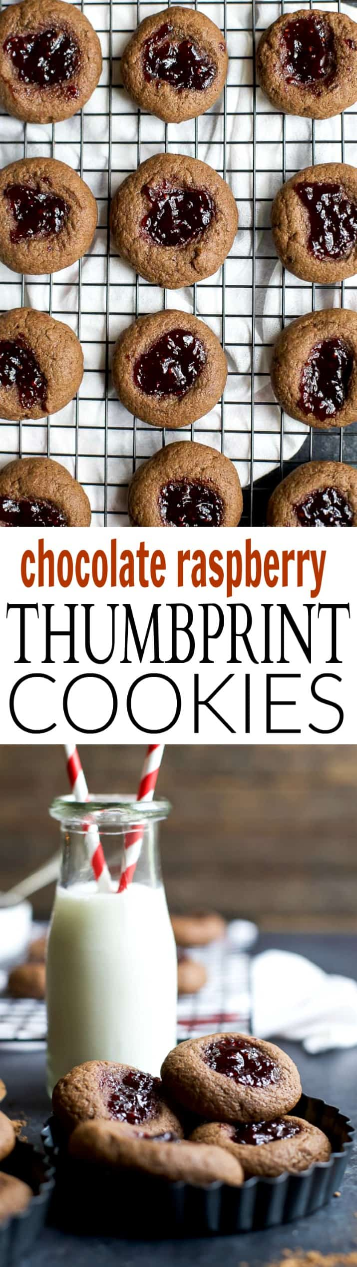 These CHOCOLATE RASPBERRY THUMBPRINT COOKIES have a subtle chocolate flavor with a burst of raspberry that you'll fall in love with!