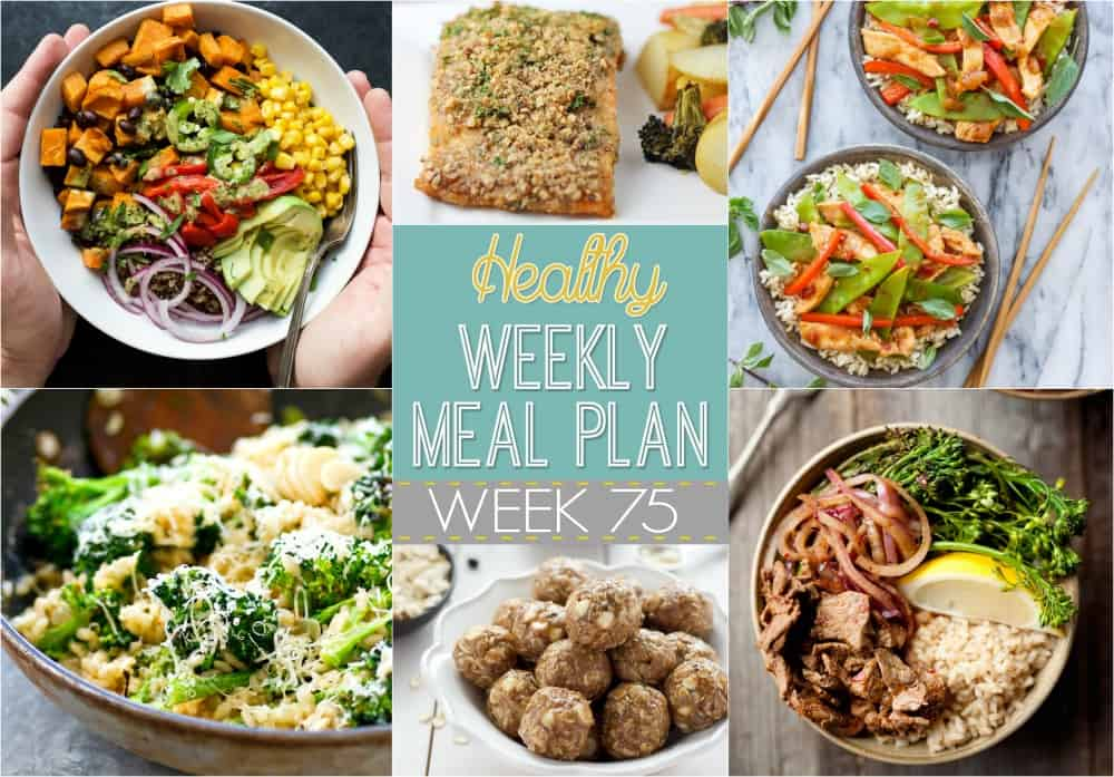 Healthy meal plan week 75 easy healthy recipes make your life easier and healthier with this family friendly healthy meal plan it has forumfinder Image collections