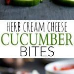 Herb Cream Cheese Cucumber Bites | Easy Party Appetizer!