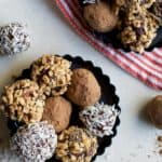 You're just 4 ingredients away from these PALEO CHOCOLATE ESPRESSO TRUFFLES. Creamy, silky, smooth chocolate - you want these on your cookie platter this holiday season! | joyfulhealthyeats.com | Gluten Free Recipes | Cookie Recipes